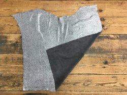 peau veau velours gris argenté paillette Cuirenstock
