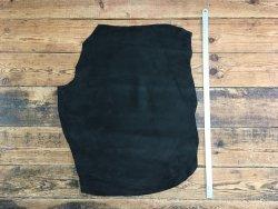 peau de porc velours noir cuir en stock