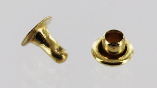 rivets simples acier laiton maroquinerie Cuirenstock