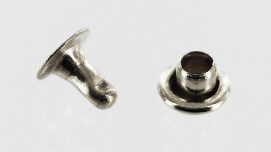 rivet simples acier nickelé qualité professionnelle Cuirenstock
