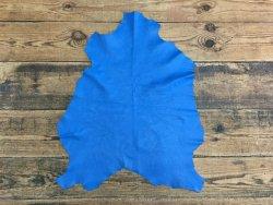 peau cuir agneau nappa bleu cyan cuirenstock