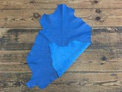peau agneau nappa bleu cyan maroquinerie cuir en stock