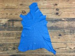 peau d'agneau nappa bleu cyan cuir en stock