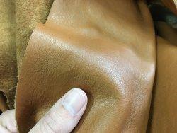 morceaux de cuir de vache camel chamois Cuir en stock