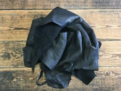 chutes cuir morceaux vache noir maroquinerie ameublement cuir en stock