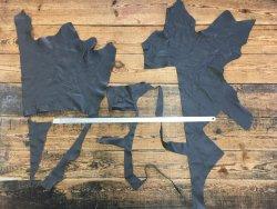 morceaux de cuir de vache gris maroquinerie ameublement Cuirenstock