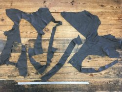 morceaux de cuir de vache marron glacé maroquinerie ameublement Cuirenstock