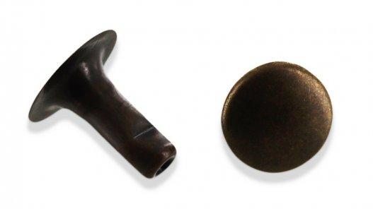 rivet simple calotte bronze vieilli taille R3 accessoire maroquinerie cuirenstock