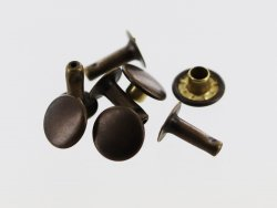 lot 20 rivets simple calotte acier bronze vieilli taille 4 accessoire maroquinerie cuir en stock