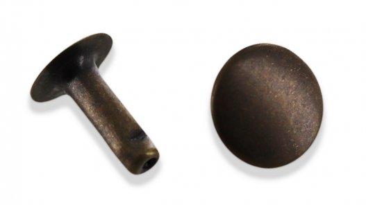 rivet simple calotte acier bronze vieilli maroquinerie accessoire cuirenstock