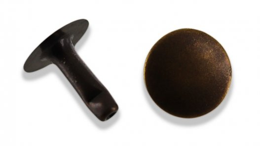 rivet simple calotte acier bronze vieilli professionnel taille 6 accessoire maroquinerie cuirenstock