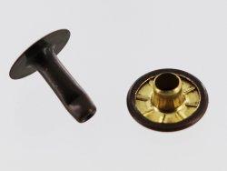 rivet simple calotte acier professionnel bronze vieilli taille 6 accessoire maroquinerie Cuir en Stock