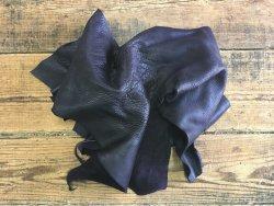 chutes de cuir de vache naturelle violet maroquinerie ameublement cuir en stock