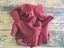 chutes cuir de vache rouge carmin naturel maroquinerie cuir en stock