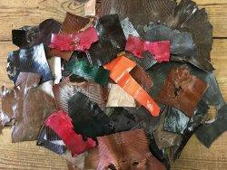 chutes de cuir de lézard couleur divers bijoux accessoire luxe cuir en stock