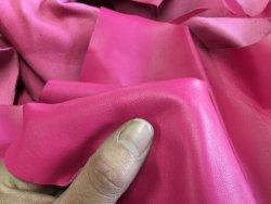 peau de cuir d'agneau rose fushia satiné accessoire luxe Cuirenstock