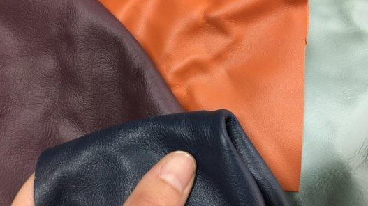 peau de cuir de veau divers couleurs maroquinerie accessoire cuir en stock