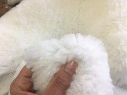 peau de cuir de mouton laine blanc accessoire chausson Cuir en Stock