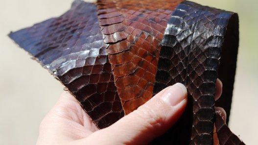 cuir de serpent véritable chutes pour maroquinerie bracelet montre Cuirenstock