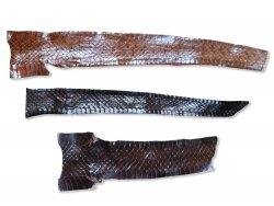 morceaux peau de serpent marron brun luxe cuirenstock
