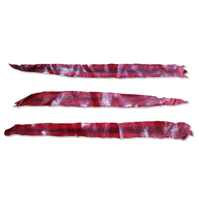 lot peau de serpent rouge véritable maroquinerie luxe cuirenstock