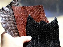 peau de serpent véritable cuir de luxe cuirenstock brun marron