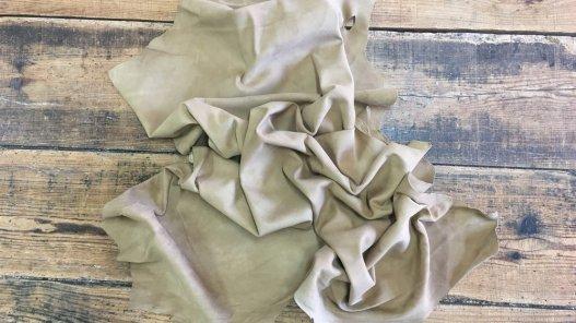 peau de cuir de chèvre velours beige maroquinerie accessoire Cuirenstock