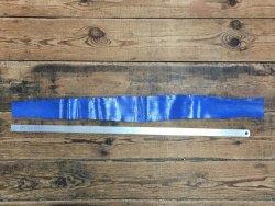 morceaux cuir serpent bleu roi exotique luxe Cuir en Stock