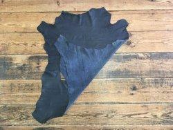 peau de cuir d'agneau bleu marine accessoire vêtement Cuir en Stock