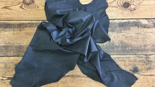 peau de cuir d'agneau bleu marine maroquinerie accessoire Cuirenstock