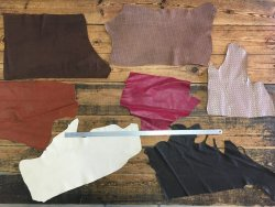 morceaux de cuir perforé maroquinerie accessoire cuirenstock