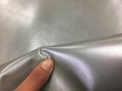 peau de cuir de chèvre métallisé platine Cuirenstock