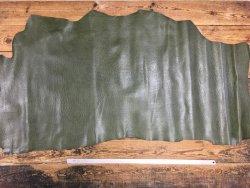 peau de cuir de vache vert kaki imitation autruche maroquinerie cuirenstock