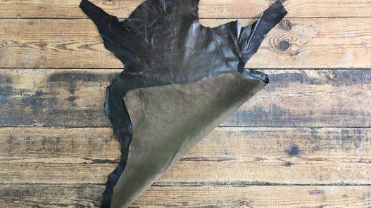 peau de cuir d'agneau nappa ciré brun antique vêtement accessoire cuirenstock