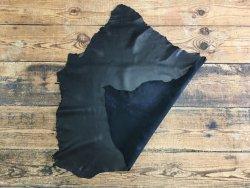 peau de cuir d'agneau nappa noir plongé satiné accessoire Cuirenstock