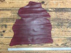 peau de cuir de chèvre bordeaux maroquinerie reliure accessoire cuir en stock