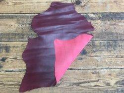 peau de cuir de chèvre bordeaux accessoire maroquinerie reliure Cuir en stock