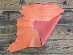 peau de cuir de chèvre orange abricot maroquinerie reliure accessoire cuirenstock