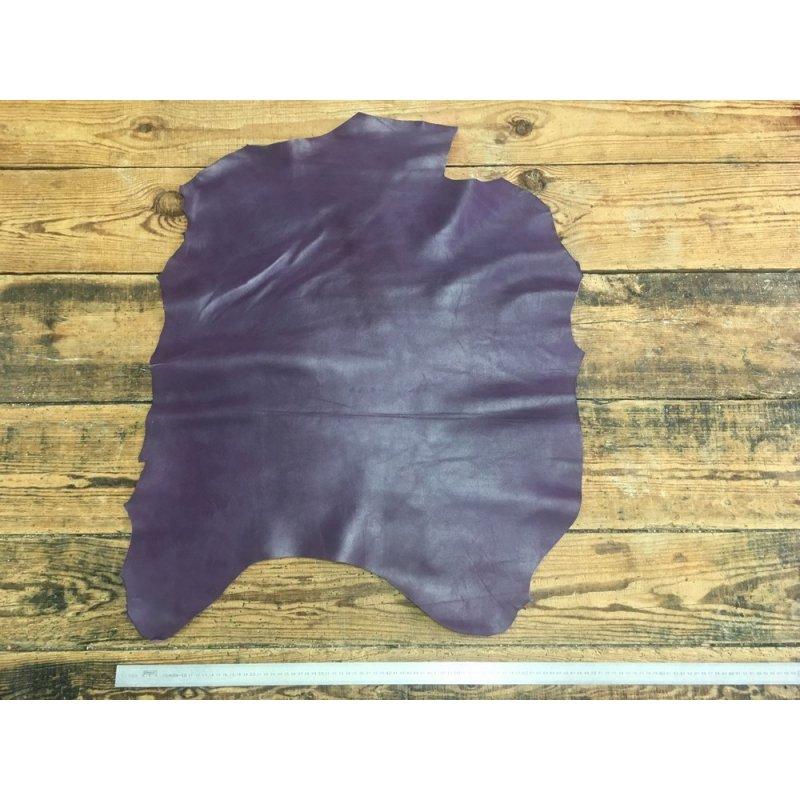 peau de cuir de chèvre violet maroquinerie accessoire reliure cuir en stock