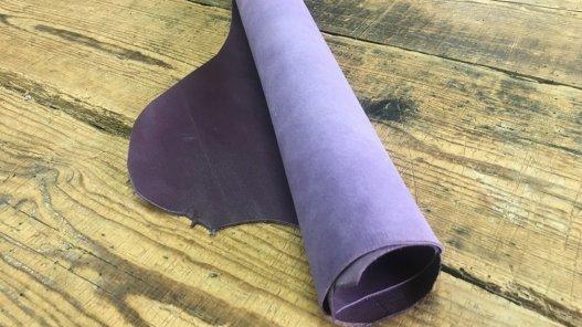 peau de cuir de chèvre satiné violet maroquinerie accessoire reliure Cuirenstock