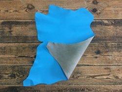 peau de cuir de chèvre bleu turquoise maroquinerie accessoire de qualité cuirenstock