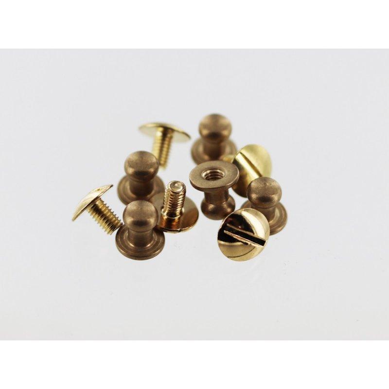 lot boutons de col à vis laiton maroquinerie accessoire qualité professionnelle cuir en stock