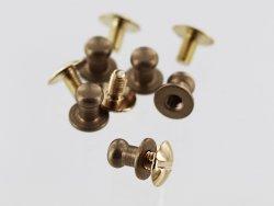 lot boutons de cartouchière à vis laiton qualité professionnelle accessoire maroquinerie cuirenstock