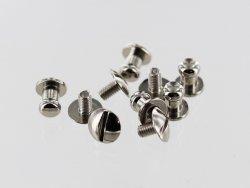 lot boutons de col à vis laiton nickelé accessoire maroquinerie qualité professionnelle cuir en stock