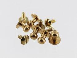 lot boutons de col à vis laiton taille 4 qualité professionnelle accessoire maroquinerie cuir en stock
