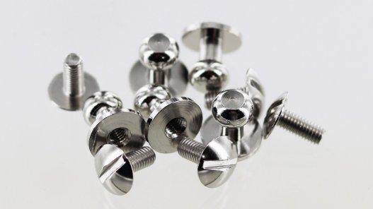 lot boutons de col à vis laiton nickelé qualité professionnelle accessoire maroquinerie cuir en stock