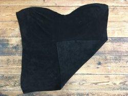 peau de cuir de veau velours noir maroquinerie ameublement accessoire Cuir en stock