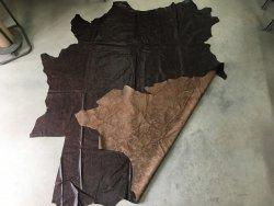 peau de cuir de vache entière antique brun maroquinerie ameublement Cuirenstock