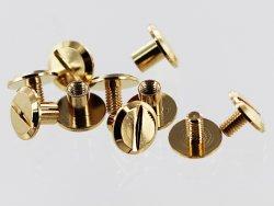 lot de vis chicago en laiton doré accessoire maroquinerie professionnel cuir en stock