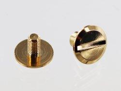 paire de vis chicago en laiton doré accessoire professionnel maroquinerie cuir en stock